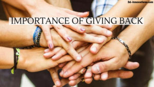 Importance Of Giving Back